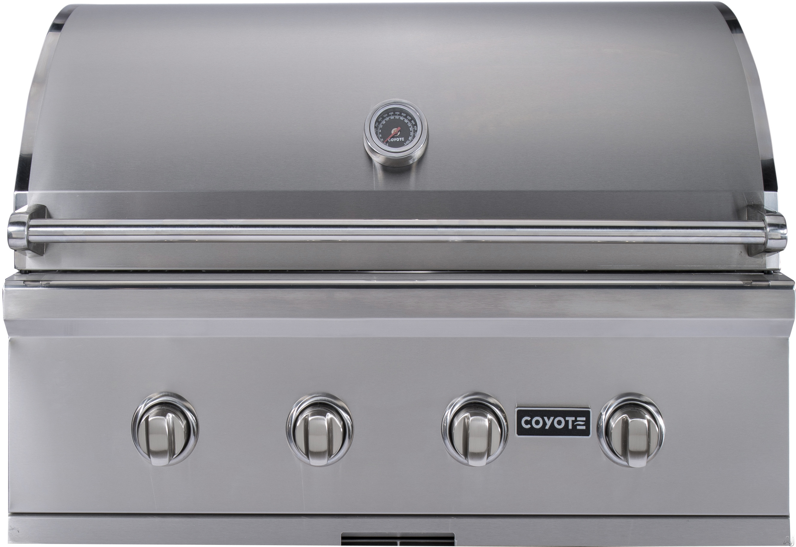 Coyote C-Series CCX4LP 36 Inch Built-in Gas Grill with 875 sq. in. Cooking Area, 80,000 Total BTU, 4 High Performance iBurners, Stainless Steel Grates, Warming Rack and Interior Grill Lights: Liquid P