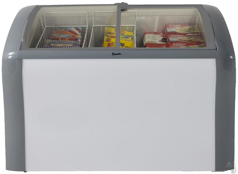 Avanti CFC83Q0WG 41 Inch Convertible Chest Freezer-Refrigerator with Commercial UL Listing, 9.3 cu. ft. Capacity, Easy-Open Sliding Glass Doors, Security Lock, Fast Freeze Setting, 2 Removable Storage Baskets and Caster Wheels