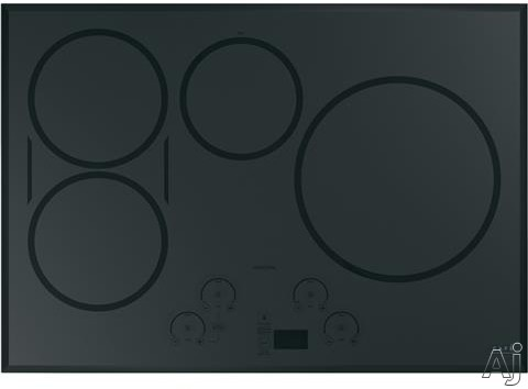 Cafe CHP95302MSS 30 Inch Induction Cooktop with 4 Induction Elements, Gourmet Guided Cooking, Pan Size Sensors, Sync-Burners Capability, Wi-Fi Connect, Melt Setting, Control Lock, Multi-Element Timer,