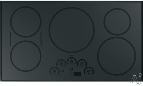 Cafe CHP95362MSS 36 Inch Induction Cooktop with 5 Induction Elements, Gourmet Guided Cooking, Pan Size Sensors, Sync-Burners Capability, Wi-Fi Connect, Melt Setting, Control Lock, Multi-Element Timer,