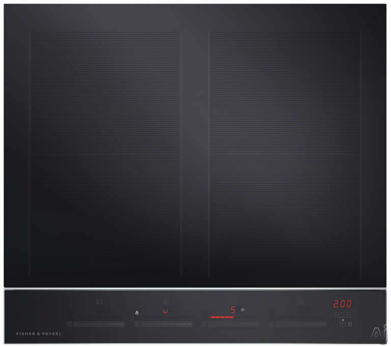 Fisher & Paykel CI244DTB2N 24 Inch Electric Induction Cooktop with 4 Cooking Zones, Up to 3700W Per Cooking Zone with PowerBoost, Black Ceramic Glass, Hot Surface Indicator, Spillage Auto-Off, Minute