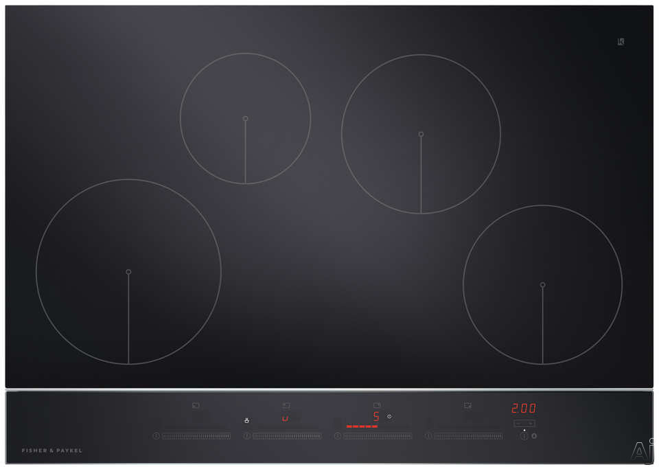 Fisher & Paykel CI304DTB2N 30 Inch Electric Induction Cooktop with 4 Cooking Zones, PowerBoost with up to 3700W Output, Black Ceramic Glass, Hot Surface Indicator, Spillage Auto-Off, Minute Timer and