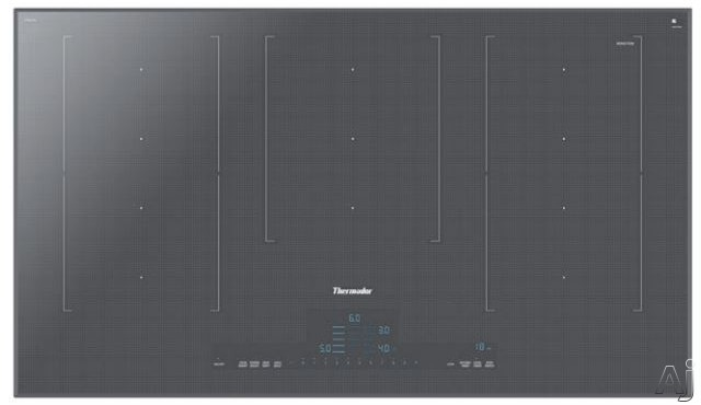 Thermador Masterpiece Series CIT367TM 36 Inch Induction Cooktop with HeatShift, MoveMode, PanBoost, CookSmart, Stopwatch Timer and Touch Control: Silver Mirrored Finish