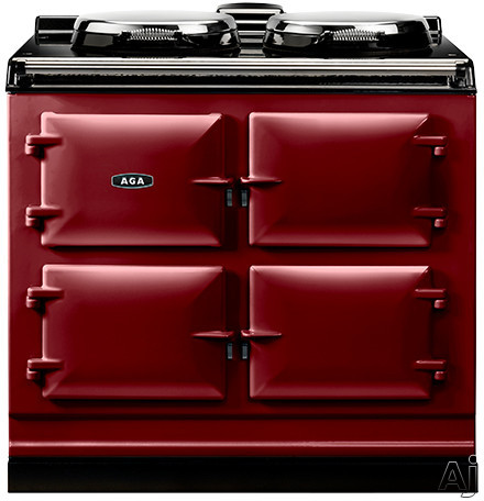 AGA ADC3ECLT 39 Inch Freestanding Electric Cooker with Boiler Hot Plate Simmering Hot Plate Roasting Oven Baking Oven Slow Cook Oven and Insulated Covers Claret