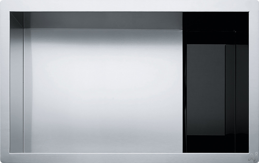 Franke Crystal Series CLV11028 29 Inch Stainless Steel Undermount Kitchen Sink with 16 Gauge Stainless Steel and Sound Dampening