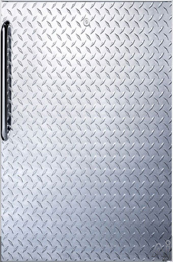 Picture of AccuCold CM411L7DPLADA 4.1 cu. ft. Stainless Steel Door Undercounter Freestanding Commercial Refrigerator with 2 Adjustable Wire Shelves, 1 Crisper Drawer with Glass Cover and Freezer Compartment: Diamond Stainless Door, ADA Compliant