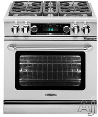 Capital Connoisseurian Series CSB304 30 Inch Pro-Style Dual Fuel Range with 4 19,000 BTU Sealed Burners, 5.0 cu. ft. Oven, Dual Kitchen Timers, Motorized Rotisserie and Moist Bake Option CSB304