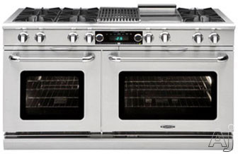 Capital Connoisseurian Series COB604BG2 60 Inch Dual Fuel Range with 6 25,000 BTU Open Burners, 5.4 cu. ft. Main Oven, BBQ Grill, Thermo-Griddle, Meat Probe Cooking, Convection Cook, Built-in Rotisser