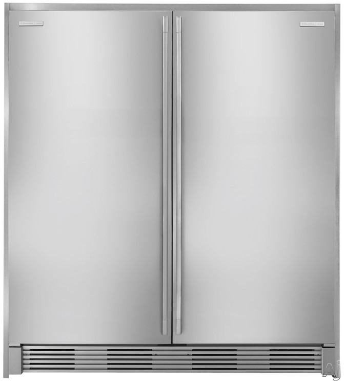 All-Refrigerator and All-Freezer with Double Collar Trim