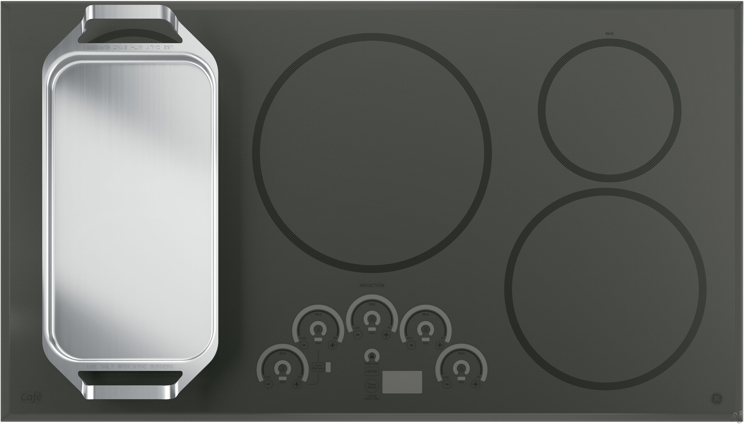 Electric Cooktop With Griddle ~ Ge cp sjss quot smoothtop electric cooktop with