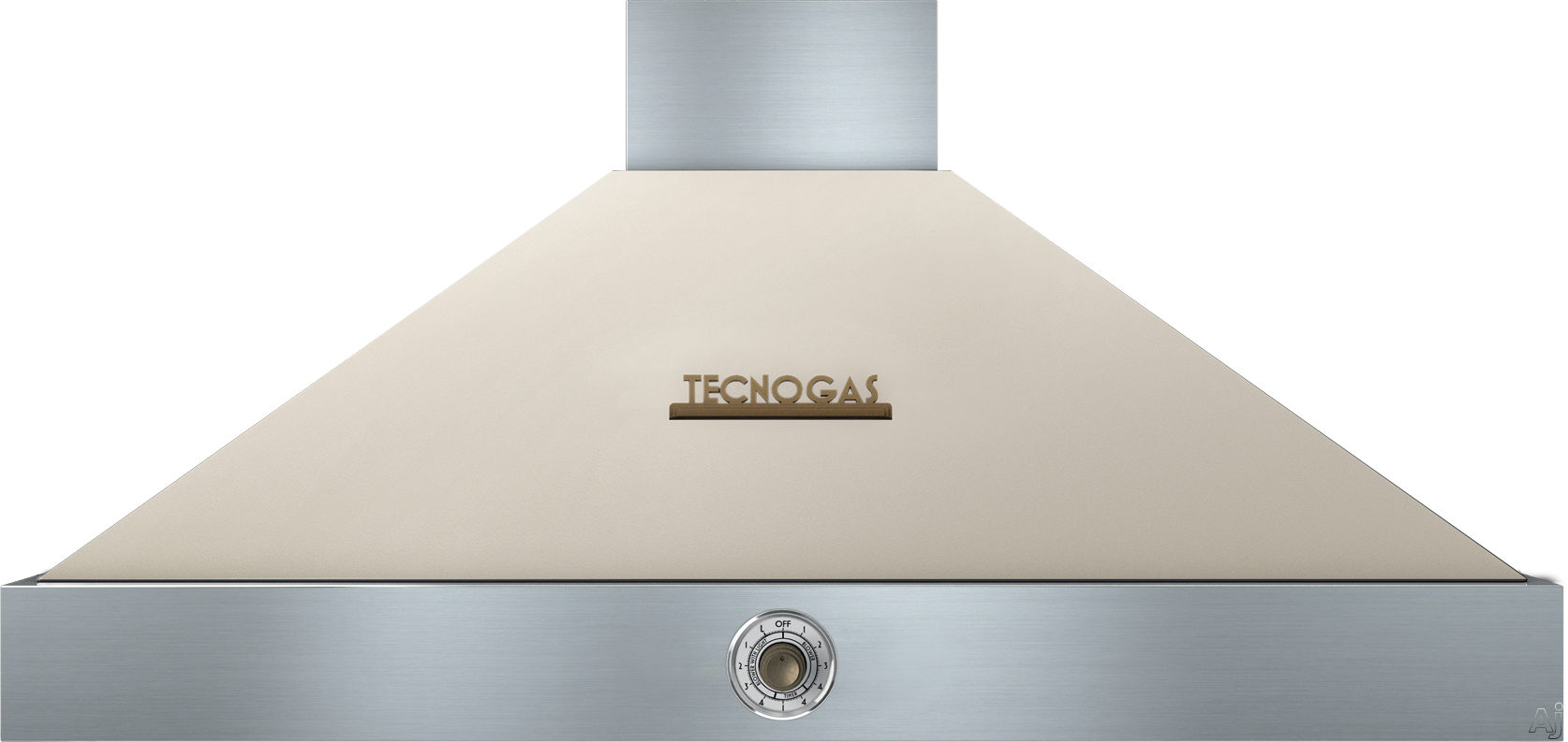Tecnogas Superiore Deco Series HD361ACCB 36 Inch Wall Mount Canopy Hood with 600 CFM Blower, 4 Speed Settings, 3 Dishwasher Safe Baffle Filters, 2 Halogen Lights, 58 dBA Noise Level and Automatic Shut-Off: Cream with Bronze Accents HD361ACCB