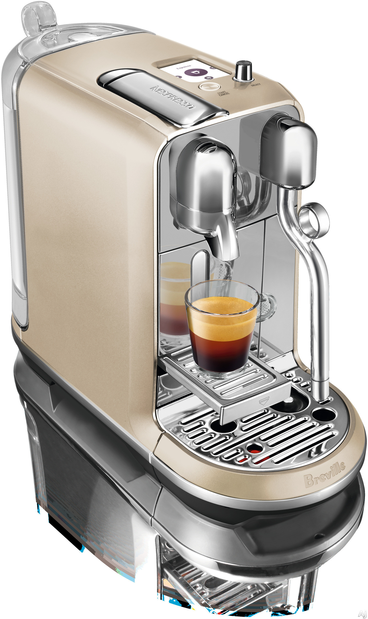 Breville BNE600RCH Creatista Espresso Machine with 8 One Touch Presets, Auto Frothing, Fast Heat-Up, Auto-Off, TFT Display, Nespresso Capsule Tasting Pack and High-Pressure Pump: Royal Champagne