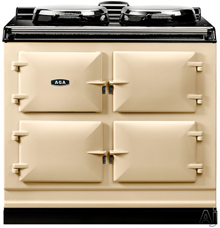 AGA ADC3ECRM 39 Inch Freestanding Electric Cooker with Boiler Hot Plate Simmering Hot Plate Roasting Oven Baking Oven Slow Cook Oven and Insulated Covers Cream