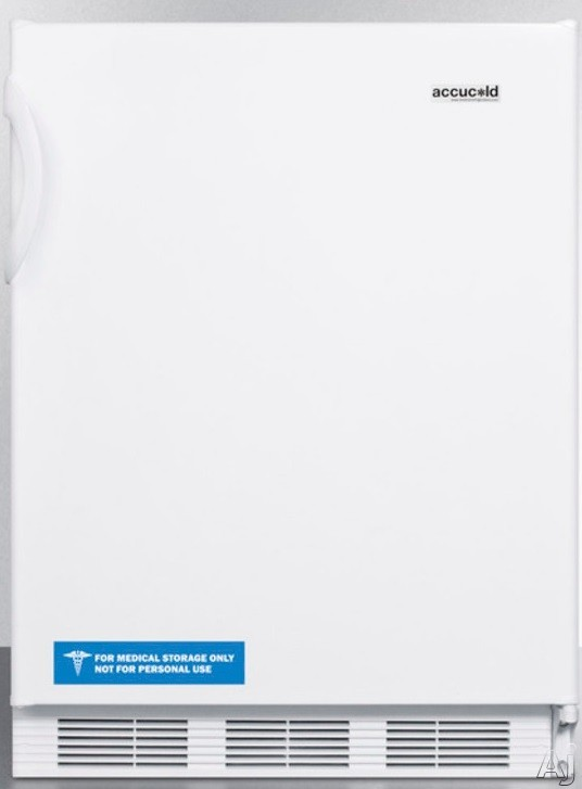AccuCold CT66JBIX 24 Inch Undercounter Refrigerator with Dual Evaporator, Freezer, Adjustable Wire Shelves, 5.1 cu. ft. Capacity and Door Storage