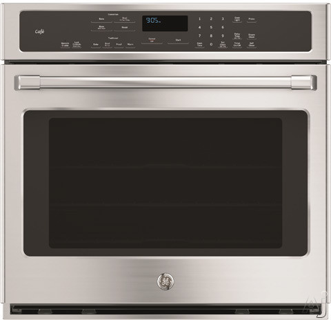 GE Cafe Series CT9050SHSS 30 Inch Single Electric Wall Oven with 5.0 cu. ft. True European Convection Oven Capacity, WiFi Connect, Interior Halogen Lighting, GE Fits! Guarantee, Star-K Certified Sabba