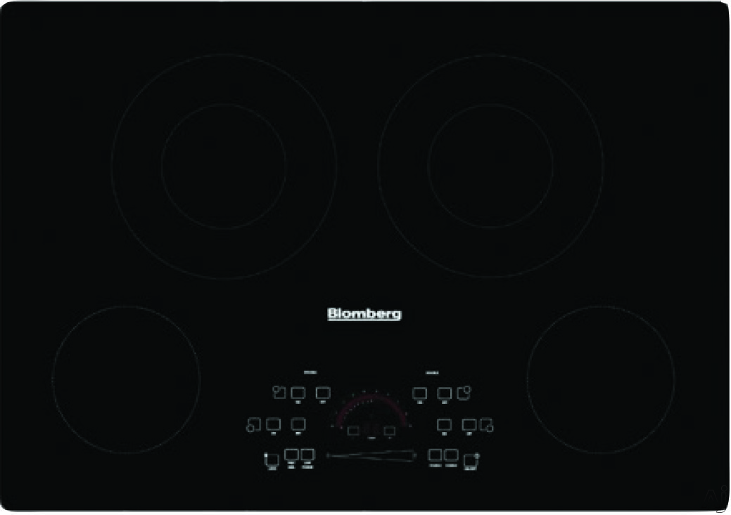 Blomberg CTE30410 30 Inch Smoothtop Electric Cooktop with 4 Vitroceramic Zones, 6 Cooking Levels Per Zone, Individual Residual-Heat Indicators, Hot-Surface Indicators and Programmable Touch Control Sy