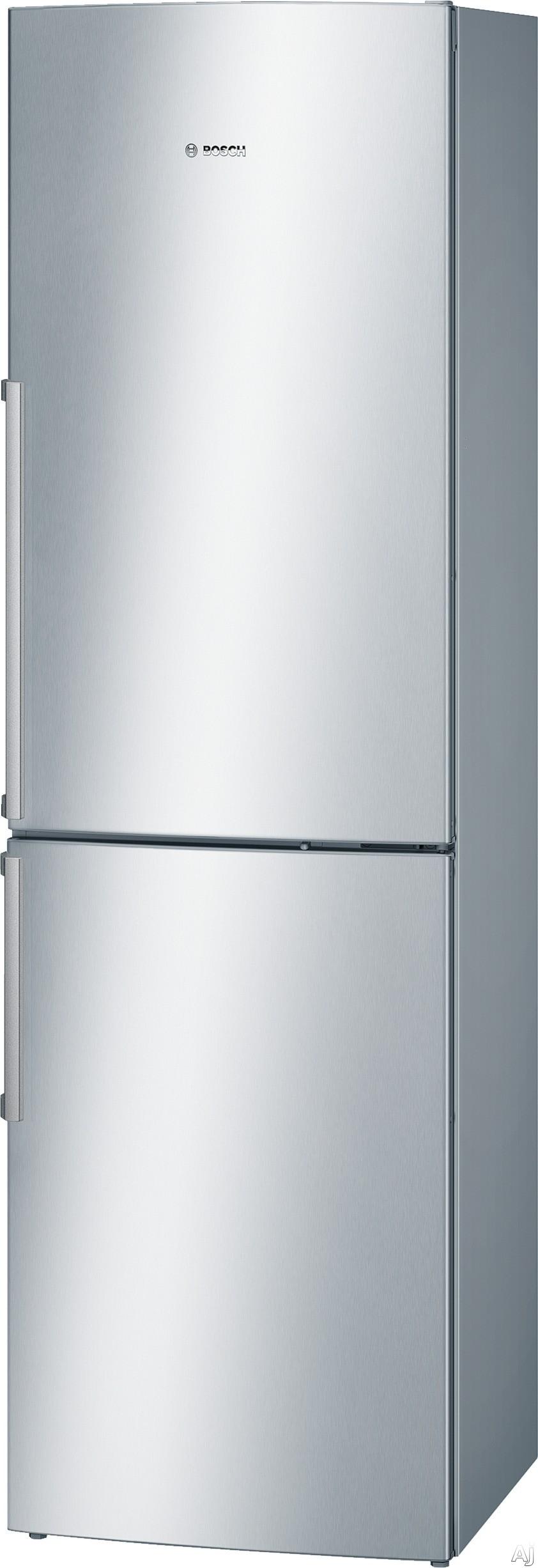 Bosch 500 Series B11CB81SSS 24 Inch Bottom Freezer Refrigerator with 2 Adjustable Glass Shelves, 3 Door Bins, 1 HydroFresh Crisper Drawer, 2 Wire Freezer Shelves, ENERGY STAR and Ice Maker