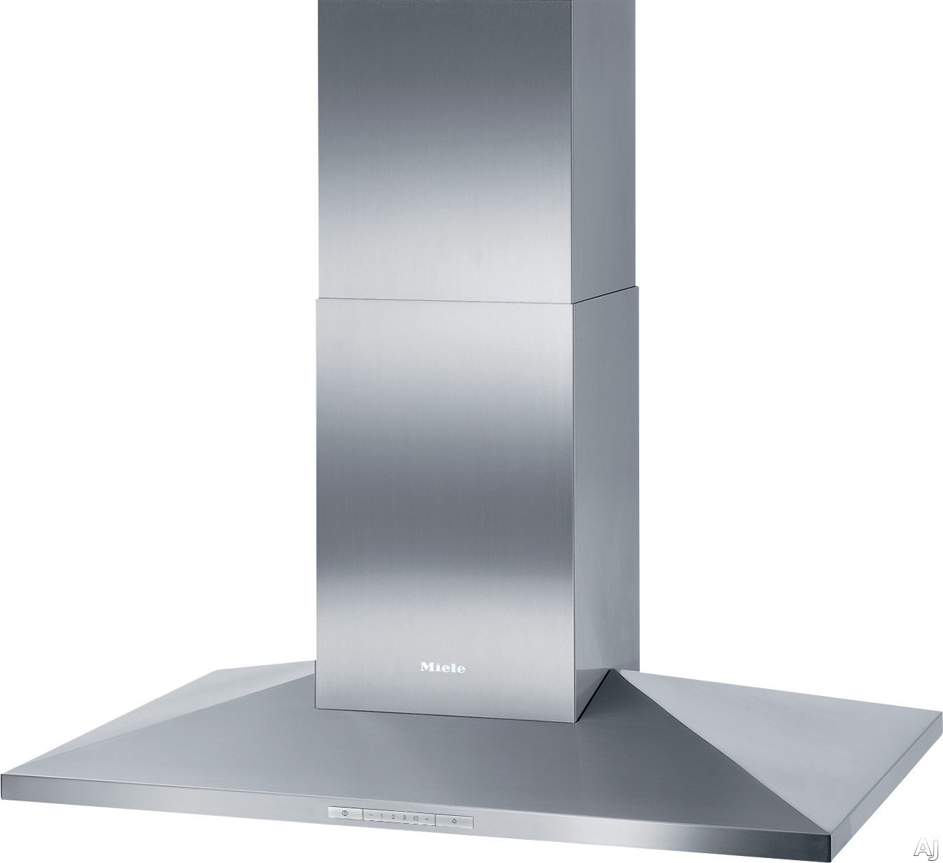Miele DA3906 40 Inch Island Mount Chimney Hood with 625 CFM Internal Blower, 4 Fan Speeds Including Intensive, Halogen Lighting, Metal Filters and Backlit Controls DA3906