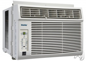 Danby DAC060EUB2GDB 6 000 BTU Window Air Conditioner with 11.2 EER R 410A Refrigerant 250 sq. ft. Cooling Area 3 Fan Speeds Auto On Off 4 Way Air Direction and Remote Control