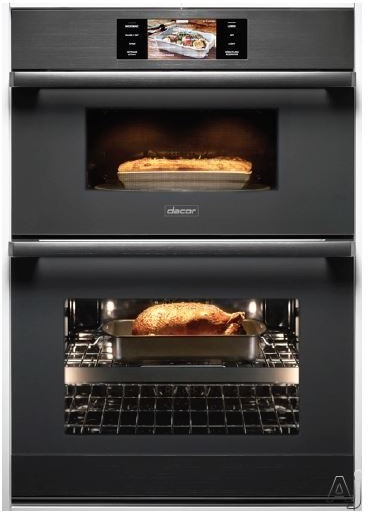 """Dacor Modernist DOC30M977DM 30 Inch Electric Combi Wall Oven with Microwave Convection, Wi-Fi Connection, GreenCleanâ""""¢ Self-Clean, Four-Part Dual Pure Convection, 1.9 cu. ft. Microwave Capacity,"""
