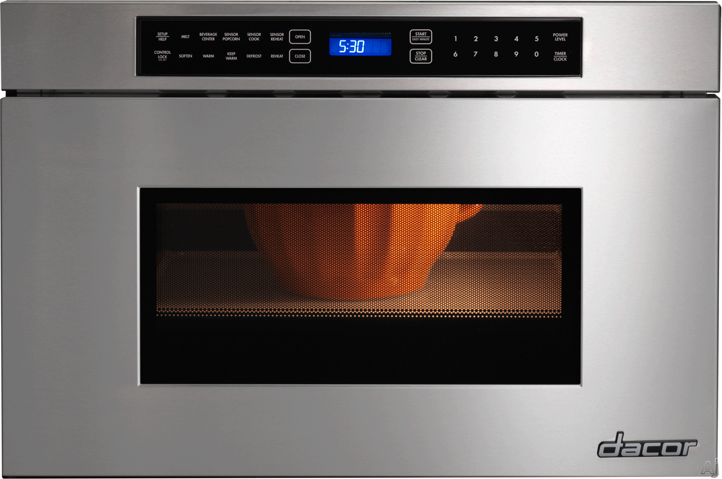 Dacor Renaissance RNMD24 24 Inch Microwave Drawer with 950 Watts, Automatic Drawer Opening, Beverage Center, 4 Automatic Cooking Sequences, Keep Warm Setting and Control Lock