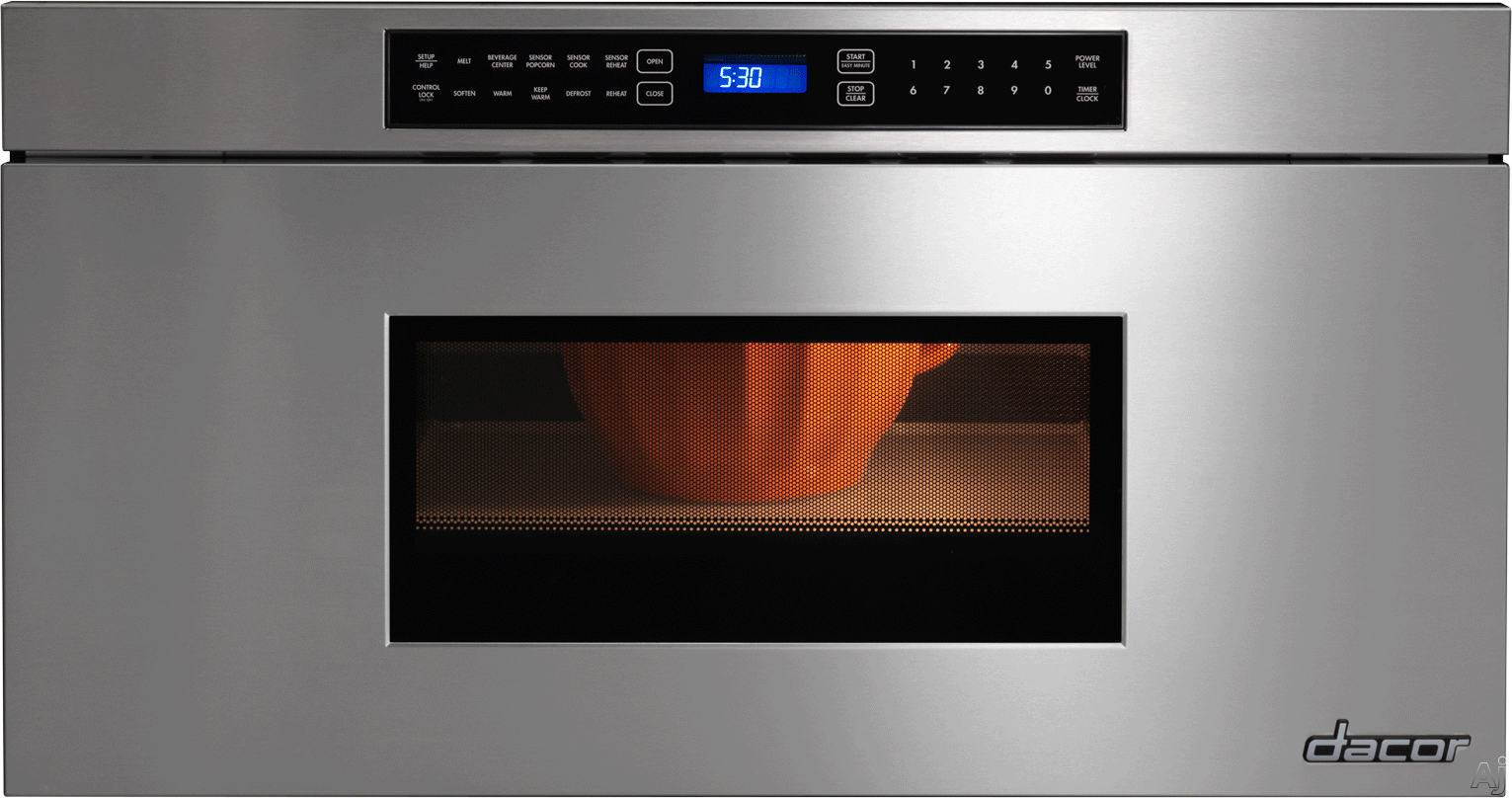 Dacor Renaissance RNMD30 30 Inch Microwave Drawer with 950 Watts, Automatic Drawer Opening, Beverage Center, 4 Automatic Cooking Sequences, Keep Warm Setting and Control Lock