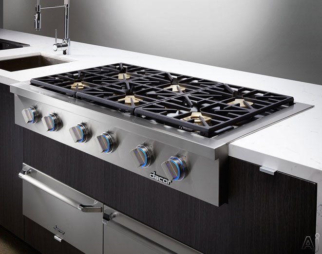 Dacor dyrtp486sng 48 gas rangetop with 6 sealed burners for Dacor cooktop