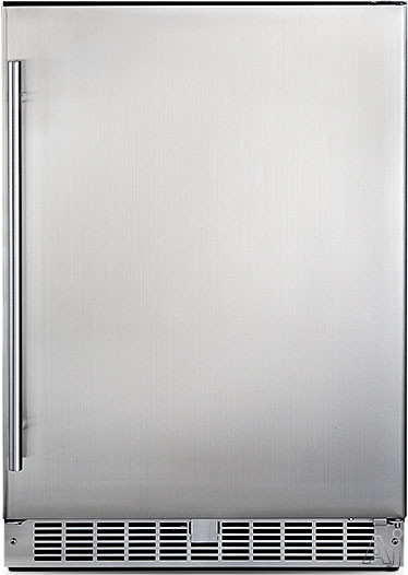 Danby Silhouette Series DAR055D1BSSPRO 5.5 cu. ft. Compact All Refrigerator with 3 Glass Shelves, 3 Door Bins, Digital Temperature Controls, Door Ajar Alarm and Rising/Falling Temperature Alarm