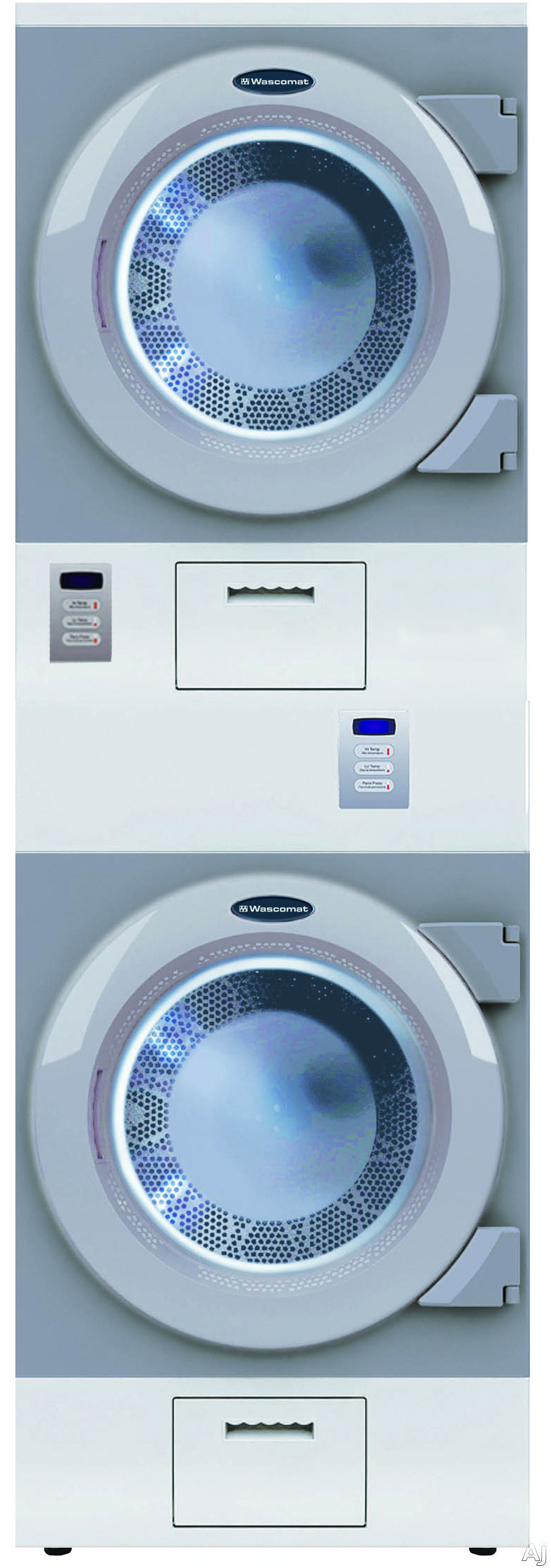 Crossover DAWS2EDC 27 Inch Stacked Commercial Electric Dryers with 7.5 cu. ft. Capacity: Card Ready