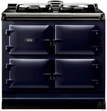 AGA ADC3EDBL 39 Inch Freestanding Electric Cooker with Boiler Hot Plate Simmering Hot Plate Roasting Oven Baking Oven Slow Cook Oven and Insulated Covers Dark Blue