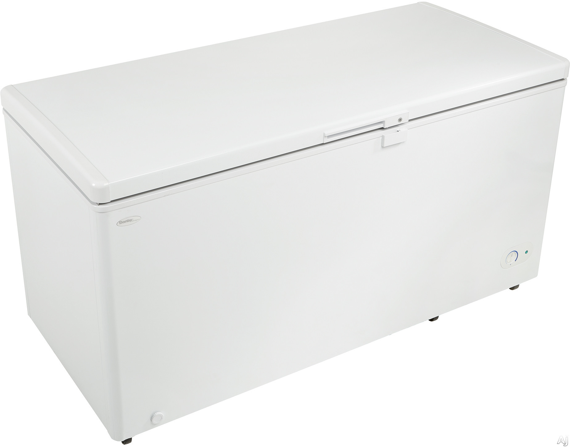"Image of ""Danby Designer Series DCF145A1WDD 60"""" Chest Freezer with 14.5 cu. ft. Capacity, 2 Heavy Duty Wire Baskets, Wire Compartment Divider, Interior LED Light, Integrated Lock and Power-On Indicator Light"""