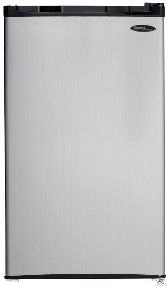 Danby DCR032C1 3.2 cu. ft. Compact Refrigerator with Full Width Freezer Section, Clean Back Design, Wire Shelves, Reversible Door Hinge, CanStor, R600A Refrigerant and ENERGY STAR