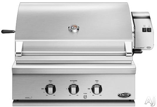 DCS BH130R 30 Inch Built-In Gas Grill with 748 Sq. In. Cooking Area, Stainless Steel Grill Grates, 64,000 BTU Total Output, 2 Grill Burners, Integrated Rotisserie Burner and Hood Temperature Gauge BH130R