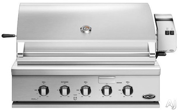 DCS BH136RN 36 Inch Built-In Gas Grill with 871 Sq. In. Cooking Area, Stainless Steel Grill Grates, 92,500 BTU Total Output, 3 Grill Burners, Integrated Rotisserie Burner, Smoker Tray with Burner, Gre