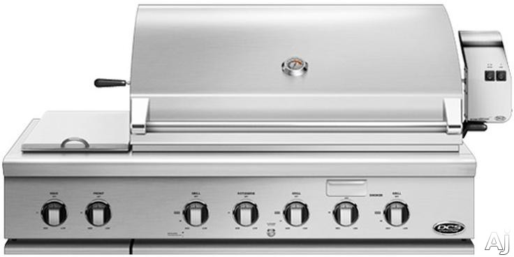 DCS BH148RSL 48 Inch Built-In Gas Grill with 1,115 Sq. In. Cooking Area, Stainless Steel Grates, 126,500 BTU Output, 3 Grill Burners, 2 Side Burners, Integrated Rotisserie Burner, Smoker Tray with Bur