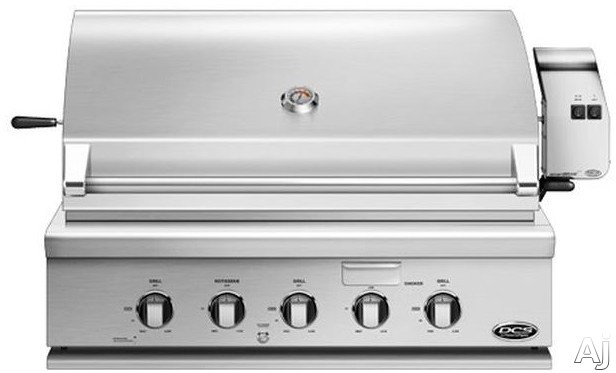 DCS BH136RGIL 36 Inch Built-In Grill with 871 sq. in. Cooking Area, Stainless Steel Grates, 92,500 BTUs, 3 Grill Burners, Hybrid Infrared Burner, Integrated Rotisserie, Smoker Tray with Burner, Griddl
