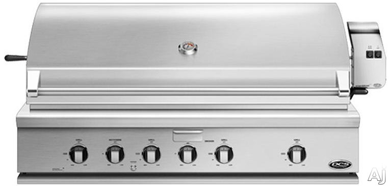 DCS BH148RL 48 Inch Built-In Gas Grill with 1,182 Sq. In. Cooking Area, Stainless Steel Grates, 121,500 BTU, 4 Grill Burners, Integrated Rotisserie Burner, Smoker Tray with Burner, Grease Management a