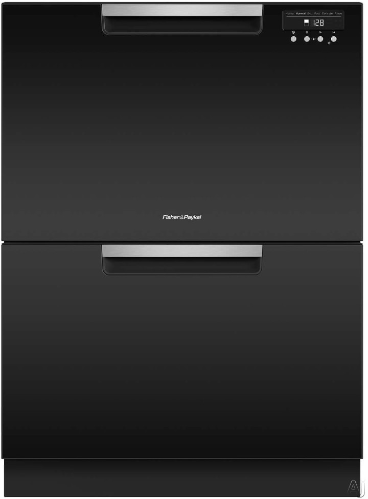 Fisher Paykel DishDrawer Series DD24DCTB9 Full Console Double DishDrawer with 14 Place Setting Capacity 15 Wash Cycles 3 Wash Modifiers 6 Wash Programs Sanitize Cutlery Basket Child Lock Silence Ratin
