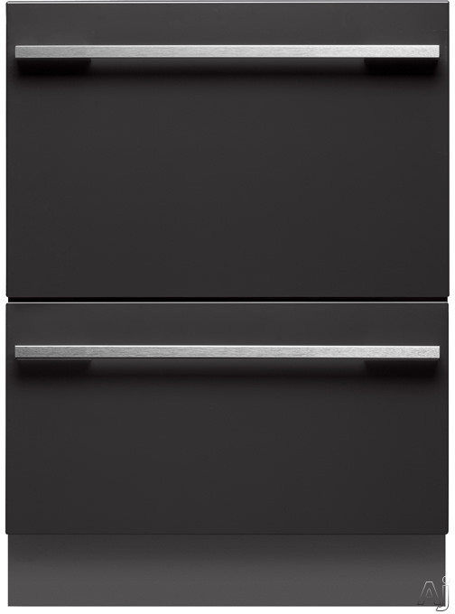 Fisher Paykel DishDrawer Series DD24DI7 Semi Integrated Double DishDrawer with 14 Place Settings 9 Cycles Eco Option 163 Degree Sanitizing Temperature Delay Start ADA Compliant and Energy Star Rated R