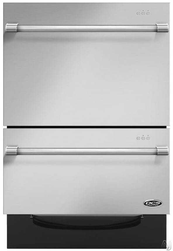 DCS DishDrawer Series DD24DV2T7 Fully Integrated Dishwasher with 9 Wash Cycles, Two Washing Drawers, Smart Drive Technology, Load Sensing, Fold Down Tines and Adjustable Racks: Stainless Steel with Round Handle DD24DV2T7