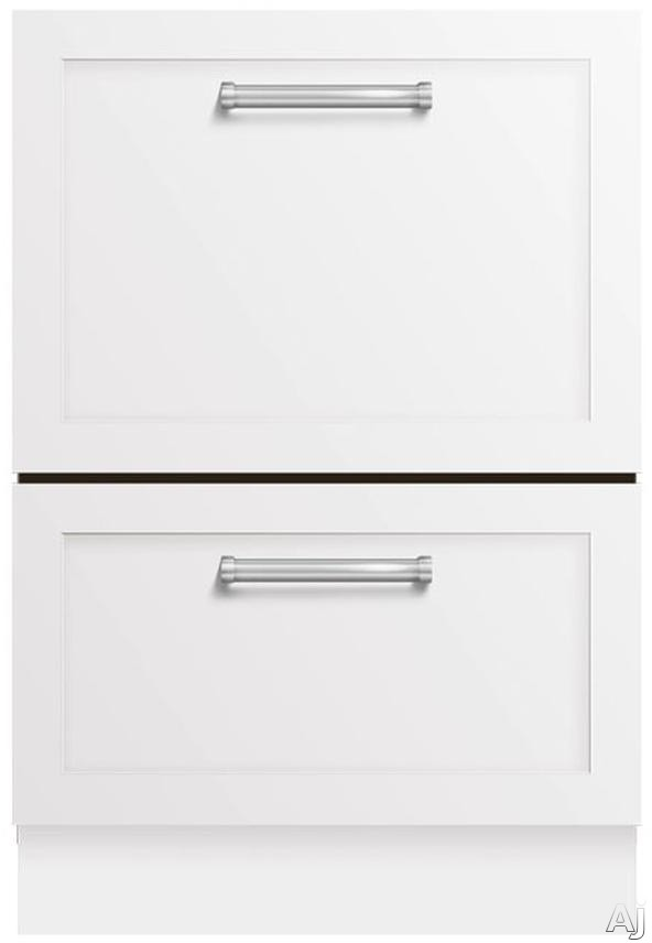 Fisher & Paykel DishDrawer Series DD24DTI7 Fully Integrated Tall Double Dishdrawer with 9 Wash Cycles, Smart Drive Technology, Load Sensing, Fold Down Tines and Adjustable Racks: Custom Panels and Handles Required DD24DTI7