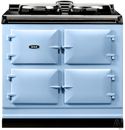AGA ADC3EDEB 39 Inch Freestanding Electric Cooker with Boiler Hot Plate Simmering Hot Plate Roasting Oven Baking Oven Slow Cook Oven and Insulated Covers Duck Egg Blue
