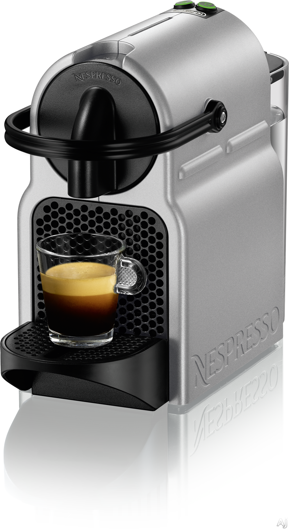 Nespresso Original Line EN80S Inissia Espresso Machine with 2 One Touch Presets, Fast Preheat, Auto Power-off, 16 Nespresso Capsule Tasting Pack, Folding Drip Tray, Auto Volume Control and High-Pressu
