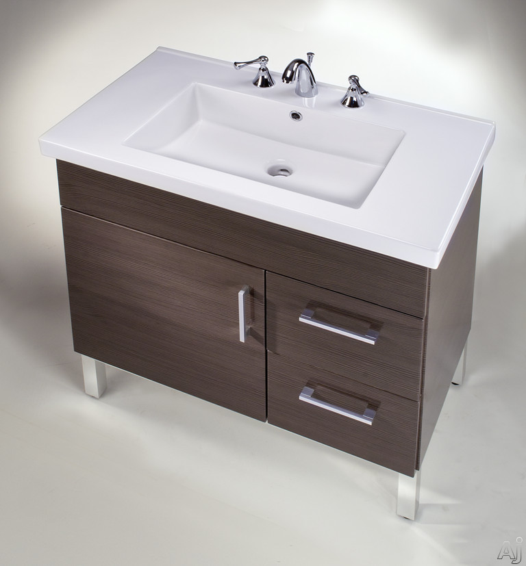 Image of Empire Industries Daytona Collection DF3012R 30 Inch Contemporary Vanity with 2 Drawers on Right Side, 1 Door, BLUM Hinges and Optional Fiorella Countertop