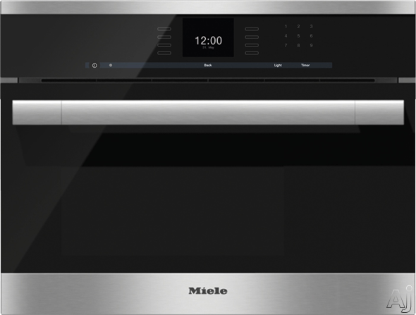 Miele ContourLine SensorTronic Series DG6500 24 Inch Single Electric Steam Wall Oven with 1.3 cu. ft. Capacity, MultiSteam Technology, MasterChef Automatic Programs, LED Lighting and Stainless Steel A