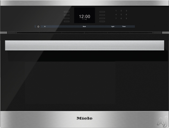 Miele PureLine SensorTronic Series DG6600 24 Inch Single Electric Steam Wall Oven with 1.3 cu. ft. Capacity, MultiSteam Technology, MasterChef Automatic Programs, LED Lighting and Stainless Steel Acce