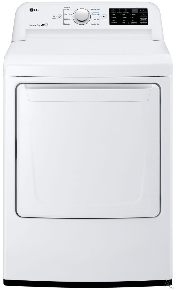 """LG DLG7101W 27 Inch Gas Dryer with Sensor Dry System, Wrinkle Care Option, Dual LED Display, Electronic Control Panel, SmartDiagnosisâ""""¢, Child Lock, FlowSenseâ""""¢ Duct Clogging Indicator, 3 Mi"""