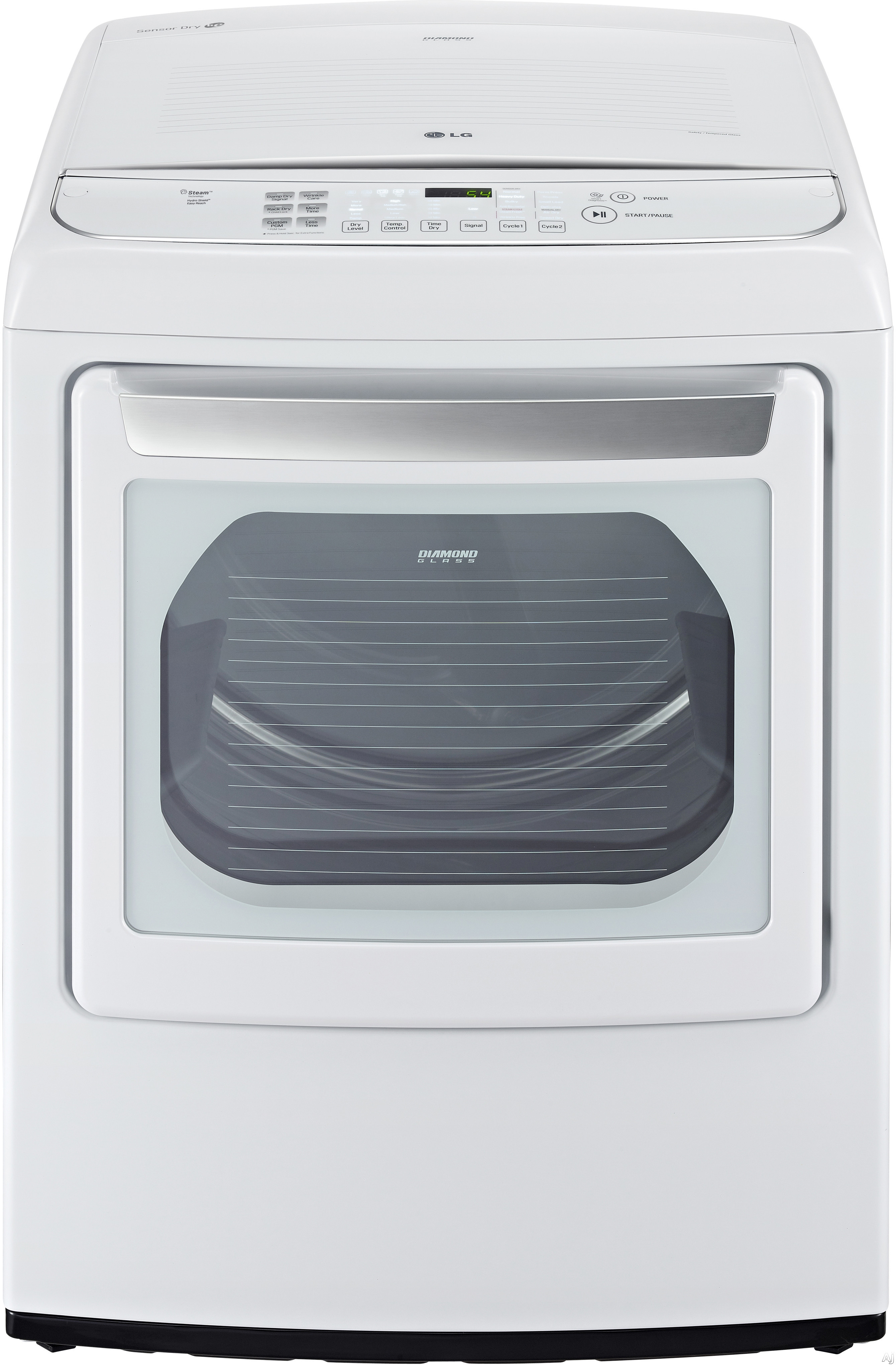 LG SteamDryer Series DLEY1701WE 27 Inch 7.4 cu. ft. Electric Dryer with 12 Dry Programs Steam EasyLoad Door Wrinkle Free Program Speed Dry Smart Diagnosis LoDecibel Quiet Operation Sensor Dry and ENER