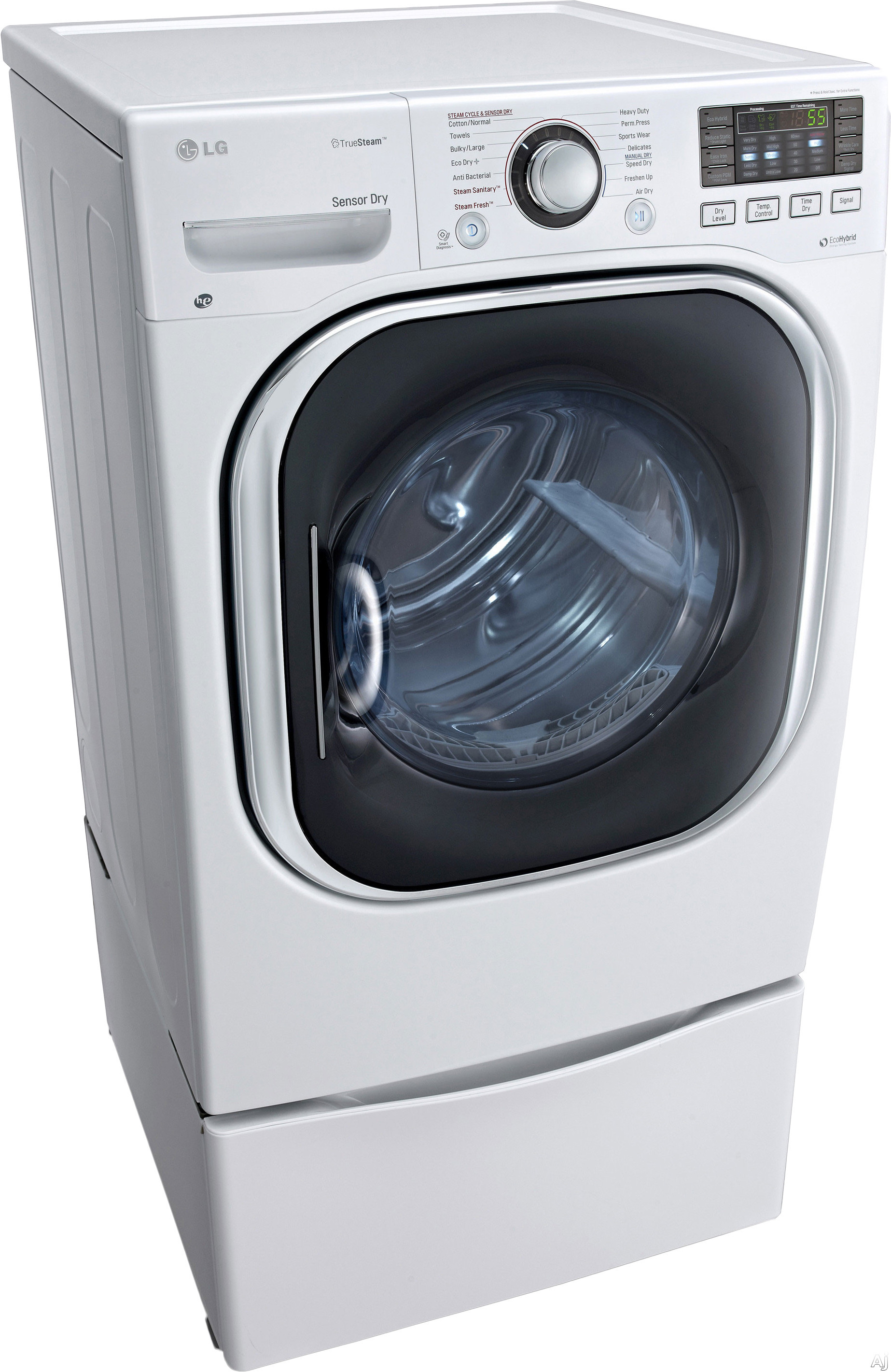Lg Dlhx4072w 7 3 Cu Ft Electric Dryer With 14 Dry Cycles