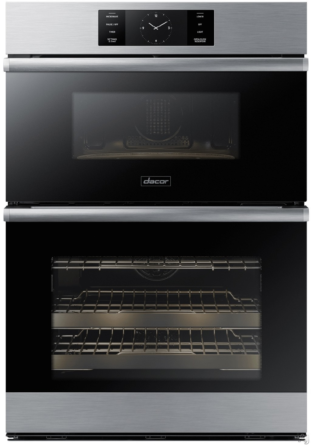 """Dacor Modernist DOC30M977DS 30 Inch Electric Combi Wall Oven with Microwave Convection, Wi-Fi Connection, GreenCleanâ""""¢ Self-Clean, Four-Part Dual Pure Convection, 1.9 cu. ft. Microwave Capacity,"""